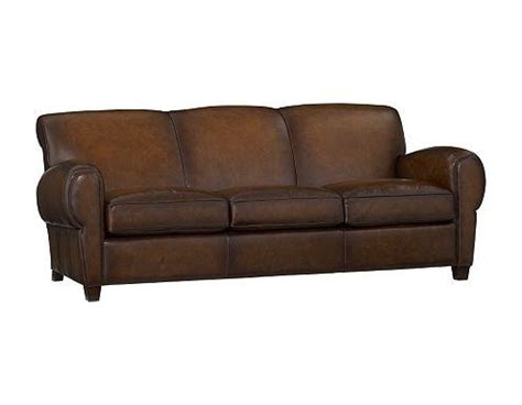 Manhattan Leather Sofa by Pottery Barn Manhattan Leather Sofa L4l