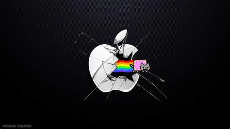 wallpaper mac cat nyan cat vs apple by patrickrohmer on deviantart