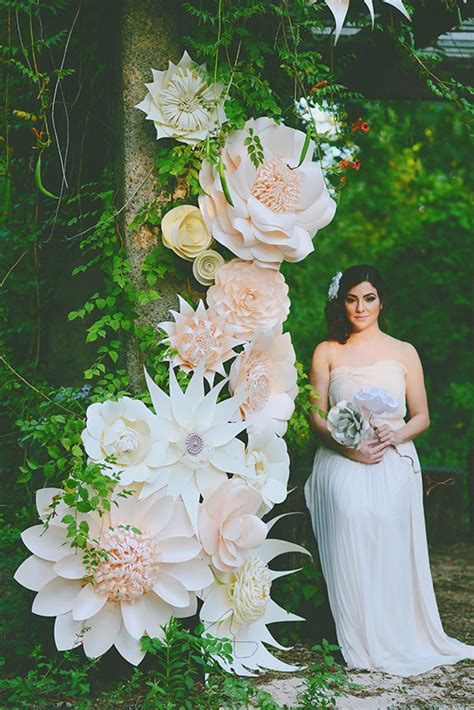 How To Make Large Paper Flowers For Wedding - paper flower wedding inspiration 100 layer cake