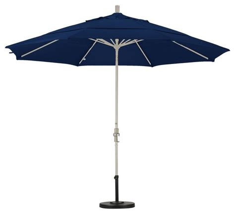11 Foot Patio Umbrella California Umbrella Patio Umbrellas 11 Ft Aluminum Collar Tilt Vented Contemporary