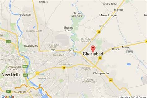 ghaziabad in india map ghaziabad pg student slits s throat consumes poison