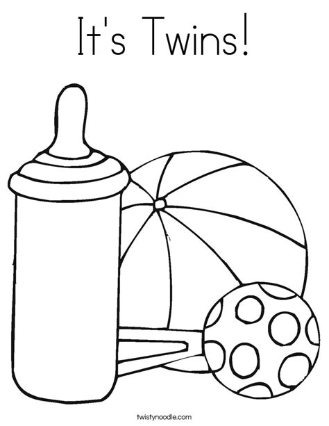 twin babies coloring page it s twins coloring page twisty noodle