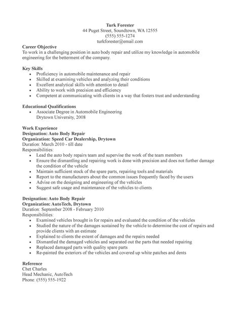 creative auto mechanic resume for your inspire vntask