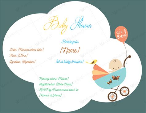 baby shower email invitation templates use a baby shower invitation template 5 printable designs