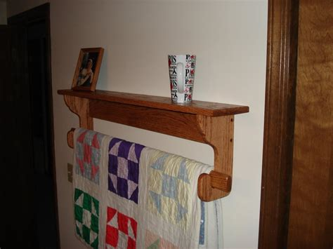 Wall Hanging Quilt Rack by Wall Hanging Quilt Rack And Shelf By Mork Lumberjocks