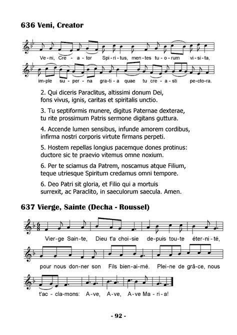 veni sancte spiritus testo updated index