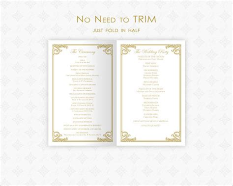 wedding ceremony template wedding ceremony program template 36 word pdf psd