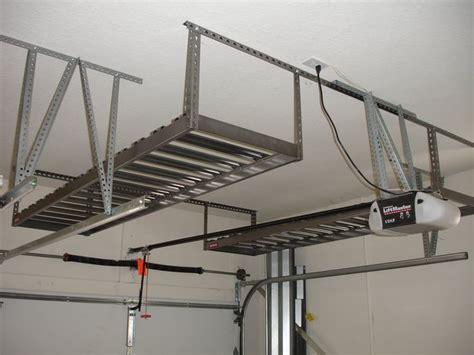 Ceiling Garage Storage Systems by 25 Best Ideas About Overhead Garage Storage On Overhead Storage Diy Garage Storage