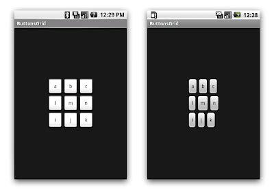 grid layout tablelayout android ボタンのデフォルト最少サイズ仕様変更の影響 sdk1 5