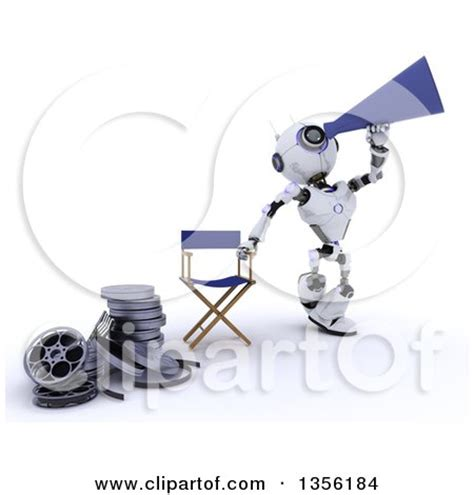 robot film director name royalty free rf clipart of directors illustrations
