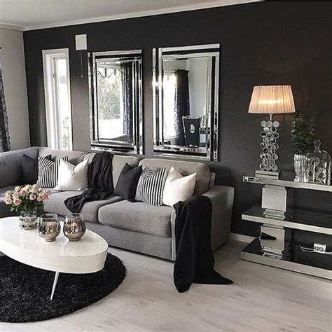 Grey And White Home Decor | 25 best ideas about living room mirrors on pinterest