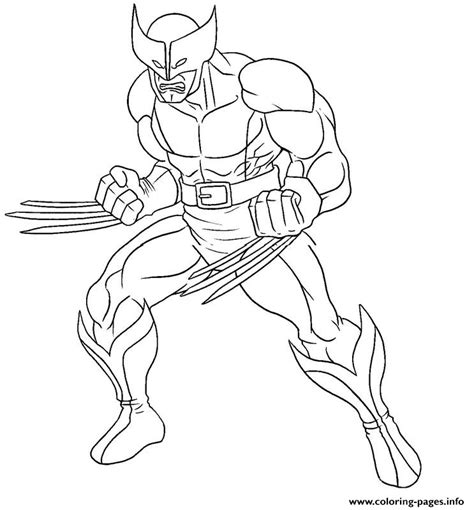 marvel coloring pages pdf marvel xmen for kids wolverine angry3e1e coloring pages