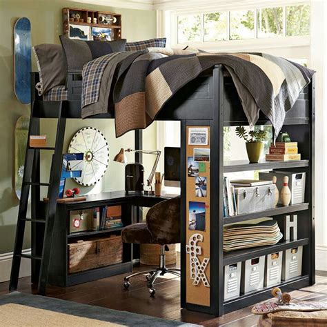 Boy Bunk Beds With Desk Mixing Work With Pleasure Loft Beds With Desks Underneath