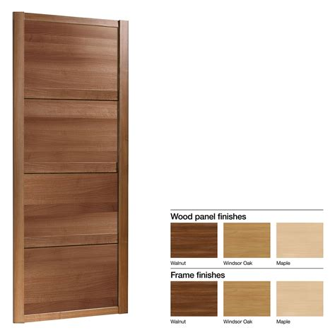 Wardrobe Doors B Q by Made To Measure Shaker 4 Panel Wood Effect Sliding
