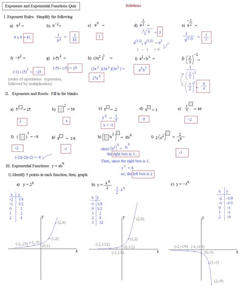 Graphing Exponential Functions Worksheet by 100 Graphing Exponential Functions Worksheet Answers