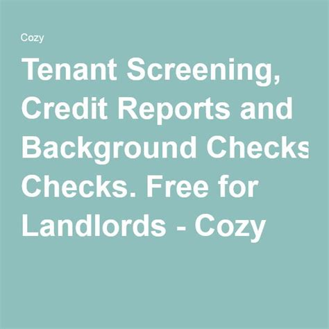 Check Tenant Credit And Background The 25 Best Tenant Screening Ideas On Tenant Screening Services Buying A