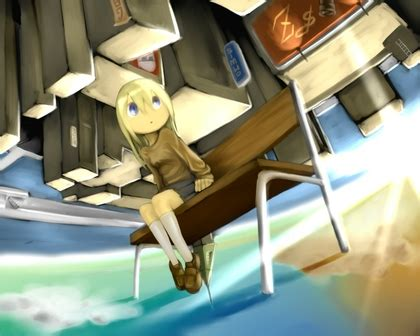 upside down bench blondes blue eyes bench upside down anime girls 1280x1024 wallpaper high quality