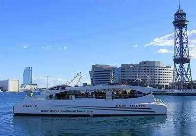 catamaran ecologico barcelona excursi 243 n mar 237 tima en barcelona port vell en un catamar 225 n