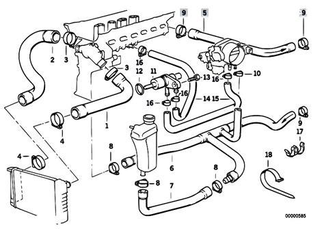 bmw e46 cooling system diagram original parts for e36 320i m50 sedan engine cooling