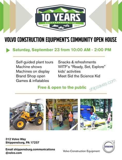 volvo construction equipments community open house ship saves
