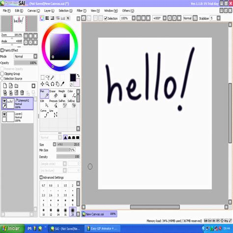 paint tool for just and go descargar easy paint tool sai