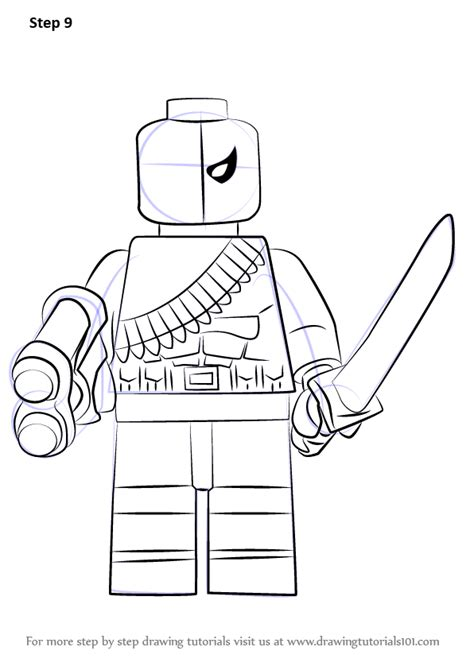 easy lego coloring pages learn how to draw lego deathstroke lego step by step
