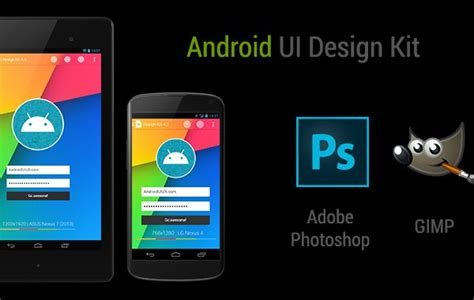 android ui design 22 creative free android ui kits themecot