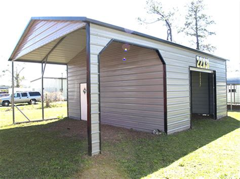 Metal Carport With Storage Shed by Metal Carport And Storage Shed Combos Probuilt Steel
