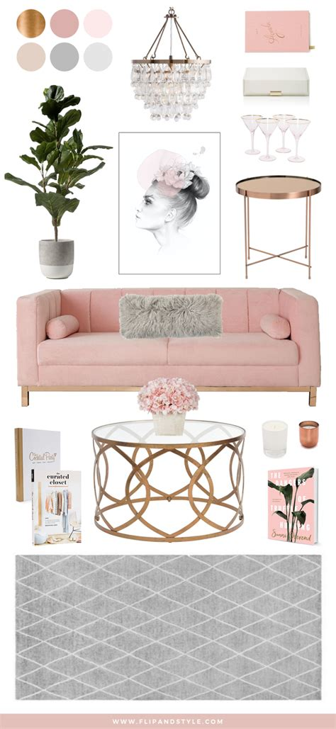 decorations blush gray copper room decor inspiration mauve home blush copper grey home decor interior inspiration
