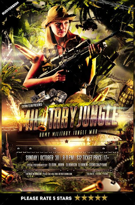 flyer army and navy templates psd 187 dondrup