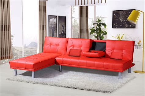 corner unit settees modern 4 seater l shaped corner faux leather sofa bed