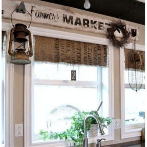 Rustic Kitchen Valances what a cool way to rustic curtains in the