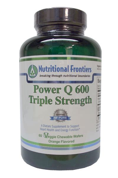 Nutritional Frontiers Detox by Power Q 600 Strength 60 Chewables