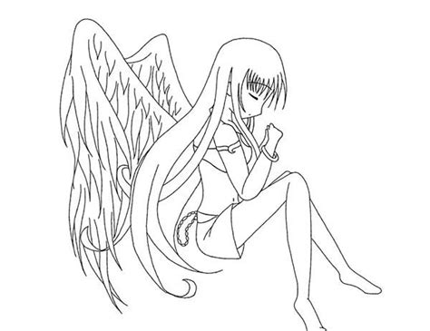 anime angel girl coloring pages free coloring pages of anime dark angel girl