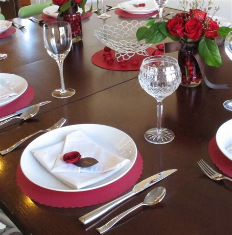 valentine s dinner party table setting table settings pinterest