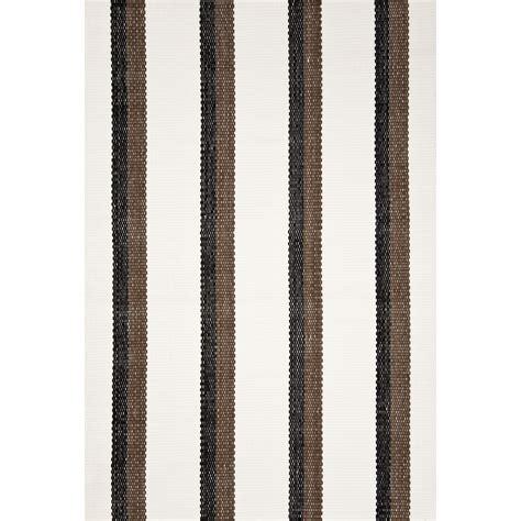 bar rug dash and albert rugs woven side bar black indoor outdoor rug rdb169