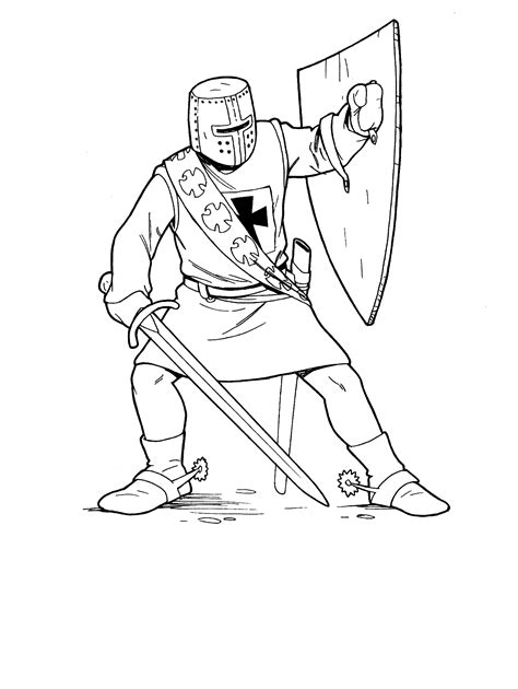 coloring pages of fighting knights soldiers and knights coloring pages 8 sca pinterest