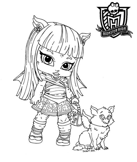 coloring pages monster high baby all about monster high dolls baby monster high character