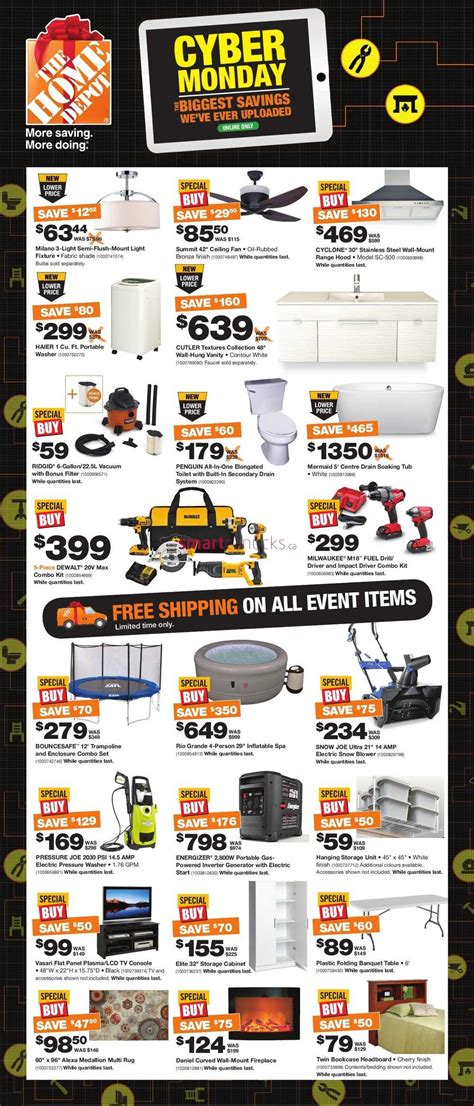 home depot canada cyber monday flyer 2015