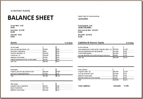 small business balance sheet template balance sheet template excel for small business calendar template letter format printable