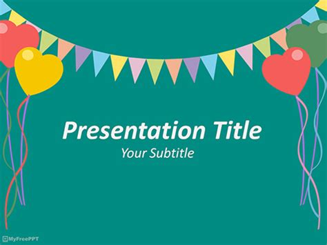 Free Birthday Powerpoint Templates Myfreeppt Com Powerpoint Birthday Template