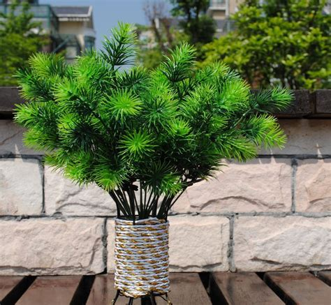Home Decorative Plants Free Shipping Wholesale Fashion Artificial Pine Tree Home Decorative Flowers Artificial Plants 7