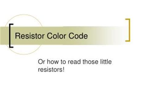 resistor color code ppt ppt resistor color code powerpoint presentation id 4773600