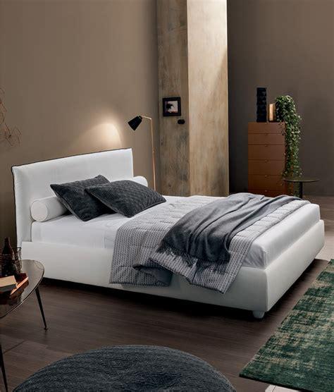 letto contenitore bianco letto imbottito bombato dalia