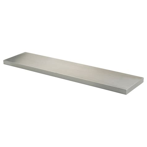 small stainless steel floating wall shelf for hallway or