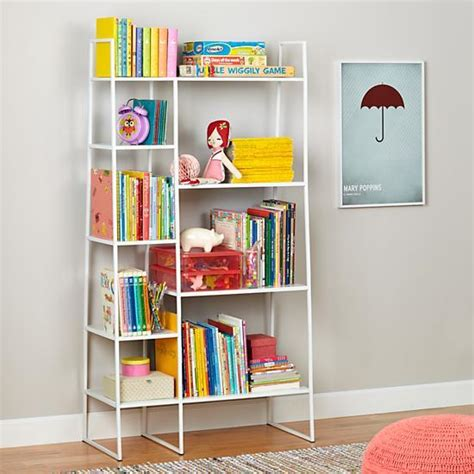 high rise bookshelf white the land of nod