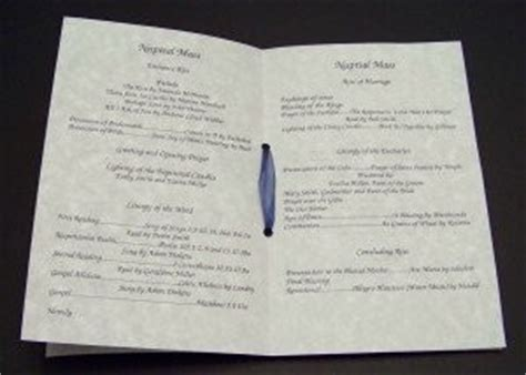 Catholic Wedding Template Mass Booklet As Promised Wedding Programs For Catholic Ceremony O Weddings Do It Yourself Etiquette