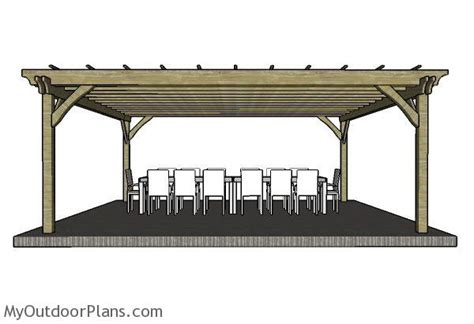 20x20 Pergola Plans Myoutdoorplans Free Woodworking 20 X 20 Pergola Plans