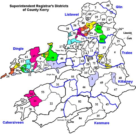 County Kerry Ireland Birth Records Kerry Birth Deaths Marriage Registration Districts My