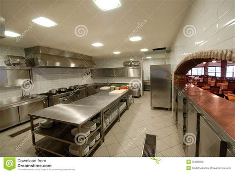 Modern Kitchen Restaurant by Modern Kitchen In Restaurant Royalty Free Stock Photos